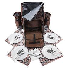 Picknick Rucksack braun für 4 Personen