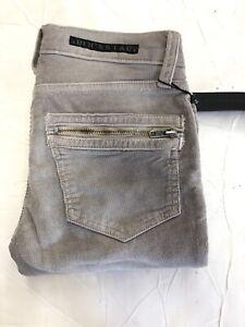 New ROCKSTAR womens Gray Corduroy Skinny Biker Jeans Size: 24x28