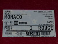 [COLLECTION SPORT FOOTBALL] TICKET PSG / MONACO 25 AVRIL 1998 Champ.France
