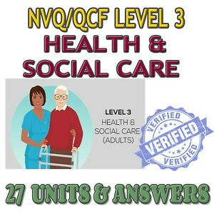 NVQ LEVEL 3 ANSWERS QCF DIPLOMA HEALTH AND SOCIAL CARE  GUIDANCE HELP 27 UNITS