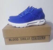 Under Armour Project Rock HOVR Phantom Shoes Blue White 3022541-400 Men's Sz 10