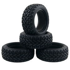 Rubber Tires 8019 Diameter 74mm 4P Fit RC HSP 1:10 On-Road Refit 1:16 Rally Car