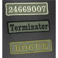 Custom personalised cloth patch for Military Airsoft look choice of backings