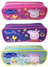 Nick Jr. Peppa Pig Blue + Purple + Pink School Pencil Pouch for Kids Set of 3
