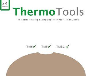 Backpapier passgenau für den Thermomix Varoma TM6, TM5, TM31 // 24 Blätter