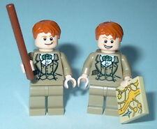 HARRY POTTER #66C Lego Fred & George Weasley Custom Magic (Genuine Lego parts)