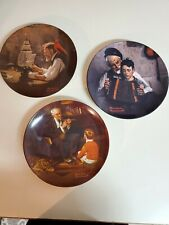 Knowles Norman Rockwell Numbered Plates (Set Of 3)