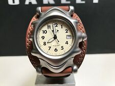 Oakley Saddleback Men's Watch, Brown, Ivory, Sapphire Crystal, Swiss Movement