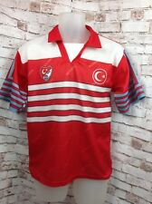 TURKIYE UEFA EURO 2000 Soccer Turkey Flag Jersey  Football Mens Size S - M