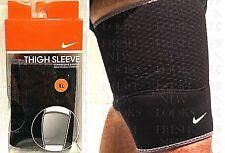 Nike Thigh Sleeve Adult Unisex Xlarge Black/Dark Charcoal Compressive Support