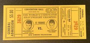 1970 Muhammad Ali Vs. Jerry Quarry Original Vintage Boxing TICKET PSA Ready