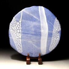 @KD37: Japanese Tea Plate, Tanba ware by Famous potter, Yuki Ogami