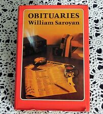 Obituaries by William Saroyan SIGNED 1st Edition - Scarce Signed Edition HC