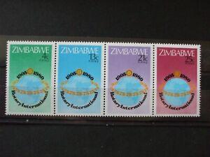 ZIMBABWE- 1980 Rotary 75th Full Set strip of 4 of 4vs MNH Cat 0.65 (2A11)