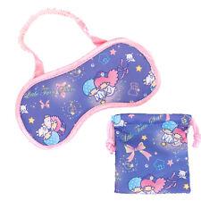 Sanrio Little Twin Stars Travel Sleep Eye Mask Shade Cover W/ Drawstring Bag W/R