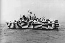 WWII Photo US Navy PT-170 Dazzle Camo Patrol Boat  World War Two WW2 B&W / 7111