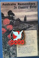 Dove of Peace Poppy  Remembrance Day Lapel Pin Badge # ANZAC DAY