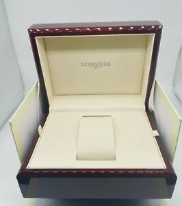 LONGINES WOODEN BOX WITH OUTER BOX IN MINT CONDITION