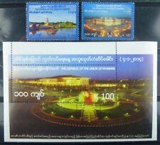 Myanmar Burma 2014 Unabhängigkeit Independence Architektur 418-19 Block 4 MNH