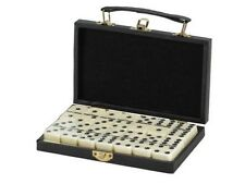 Dominoes Double 6 Six Standard Size Tile with Brass Spinners & Storage Case New