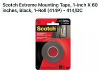 Scotch 414//DC Extreme Mounting Tape Black 1 by 60-Inch
