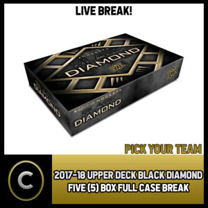 2017-18 UPPER DECK BLACK DIAMOND 5 BOX (FULL CASE) BREAK #H1105 - PICK YOUR TEAM