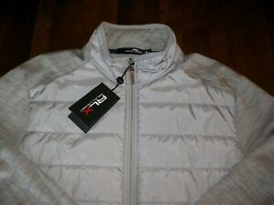 NWT RLX by Ralph Lauren Paneled Stretch Wool Insulated Jacket -- Grey - Size L