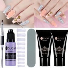 Quick Poly Building Gel Slip Solution False Mold Tips Spatula Brush Nail Art Set