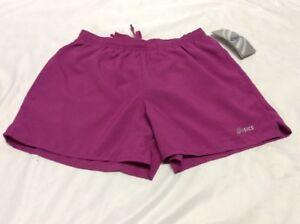 Asics Women's Athletics CORE SHORT, Plum, Size XS, Retail $30.00