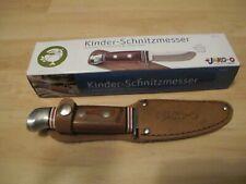 JAKO-O * Kinder-Schnitzmesser * Holzgriff * abgerundete Spitze * Lederetui