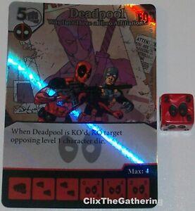 Deadpool Why Isn'T Là A Héros Affiliation ? 117 Dé Masters Super Rare Aluminium