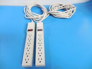 Fellowes SS-2B-F-CB-0 Relocatable Surge Protector 6-Outlets (Lot of 2)