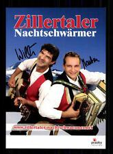 Zillertaler Nachtschwärmer Autogrammkarte Original Signiert ## BC 72541