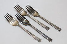 4 Vintage Holmes & Edwards 1923 Century Silverplate Flatware Salad Forks