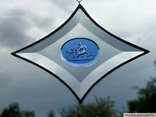 Bleiverglasung Facetten- Rhombus mit aufgesetzten Intaglio- Glas  in Tiffany
