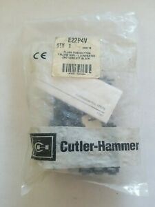Cutler-Hammer E22P4V  Yellow Flush push button non illuminated (NOS)