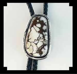 Native American Sterling and Wild Horse Magnesite Bolo