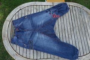 sarouel en jean brodé femme DESIGUAL taille 36