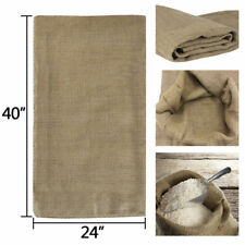 "6pcs Reusable Jute Burlap Sacks 40""×24"" Gunny Bag Cereals Potato Race Sand Bags"