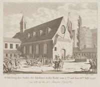 Schließung des Saales der Jakobiner 1794, 18.Jahrhundert, Paris, Radierung