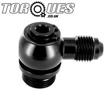 AN-6 (6AN) Banjo Adapter To ORB-8 (3/4 UNF) Aluminium Banjo Bolt Assembly BLACK