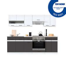 Einbauküche mit Elektrogeräten Spülbecken Küche Küchenzeile E-Geräten Spüle Herd