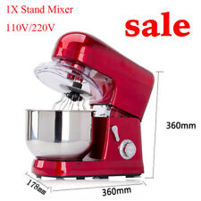 Commercial  6-speed 5L Metallic Red Stand Mixer 1200W W/Mixing Bowl Good Helper