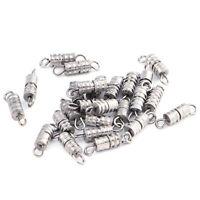 25 Pcs Silver Tone Metal Necklace Bracelet Swivel Screw Clasp Jewelry 9x4mm