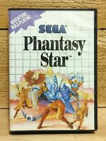 Phantasy Star Authentic RPG Sega Master System Video Game Tested With Poster