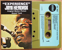 "JIMI HENDRIX - ""EXPERIENCE"" SOUNDTRACK (EMBER ZCE5057) 1971 UK CASSETTE TAPE EX!"