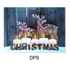 Weihnachten 40cm x 30cm LED Beleuchtung Leinwand Bild - Rentier DP9