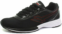 Gola Active Vortex Mens Black Red White Lightweight Lace Up Running Trainers