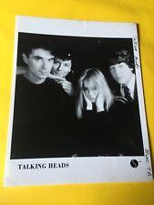Talking Heads Press Photo 8x10, David Byrne, Chris Frantz, Tina Weymouth Sire.