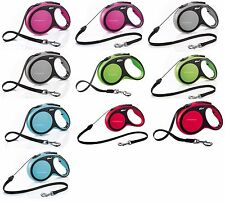 Flexi Retractable Dog Lead Vario Comfort Neon Classic Cord Tape Design Leash